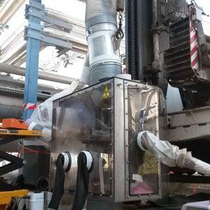 Radiological Confinement System Drilling