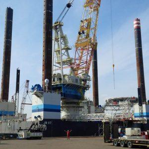 GeoSonic Rig Loading onto Offshore Jackup